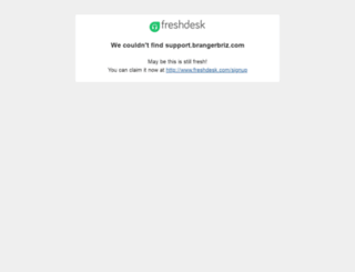 support.brangerbriz.com screenshot