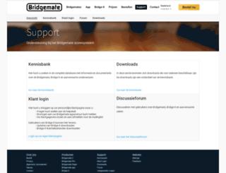 support.bridgemate.nl screenshot
