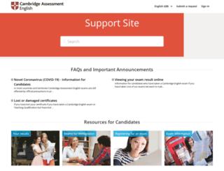 support.cambridgeenglish.org screenshot