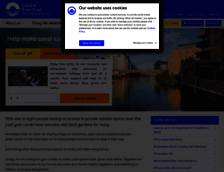 support.canalrivertrust.org.uk screenshot
