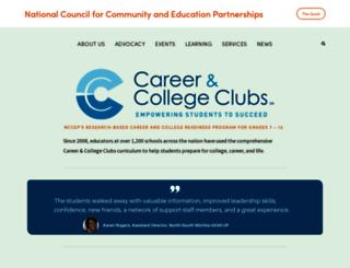 support.careerandcollegeclubs.org screenshot