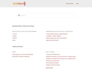 support.chillifire.net screenshot