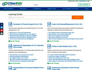 support.citizenpath.com screenshot
