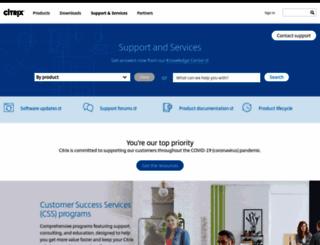 support.citrix.com screenshot