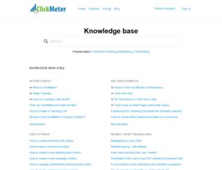 support.clickmeter.com screenshot