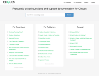support.cliquesads.com screenshot