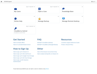 support.cloudberrylab.com screenshot