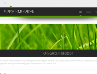 support.cms-garden.org screenshot