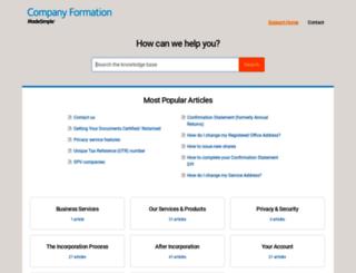support.companiesmadesimple.com screenshot
