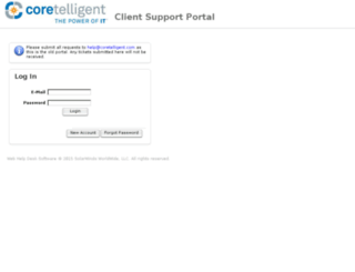 support.coretelligent.com screenshot