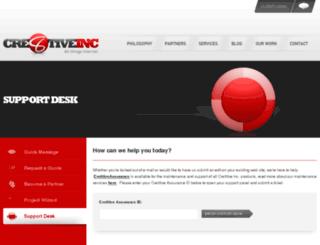 support.cre8tiveinc.com screenshot