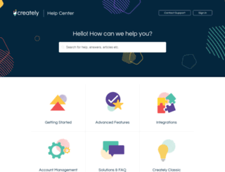 support.creately.com screenshot