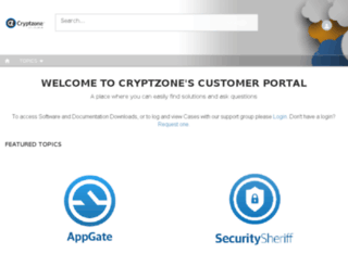support.cryptzone.com screenshot