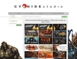 support.cyanide-studio.com screenshot