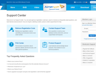 support.daniusoft.com screenshot