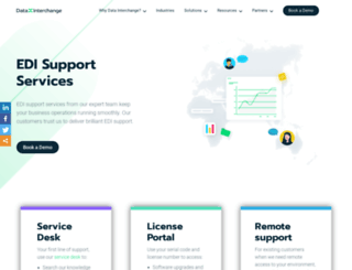 support.datainterchange.com screenshot