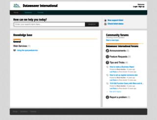 support.dataweaver.eu screenshot
