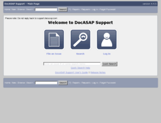 support.docasap.com screenshot