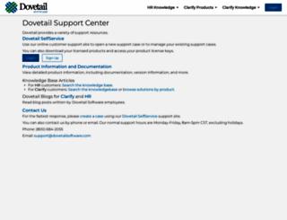 support.dovetailsoftware.com screenshot
