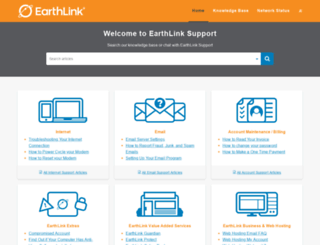 support.earthlink.net screenshot