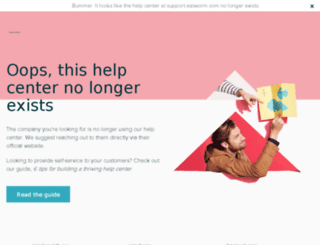 support.eatworm.com screenshot
