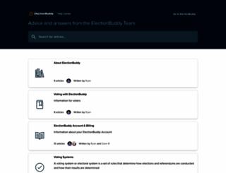 support.electionbuddy.com screenshot