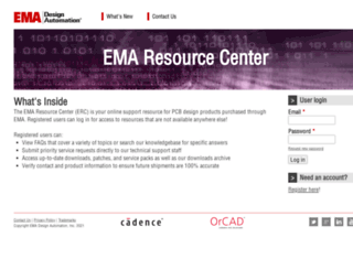 support.ema-eda.com screenshot
