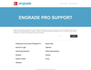 support.engrade.com screenshot