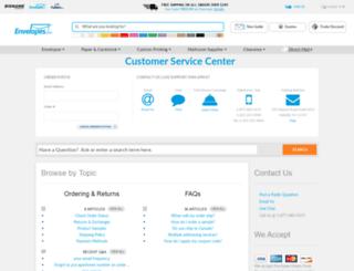 support.envelopes.com screenshot
