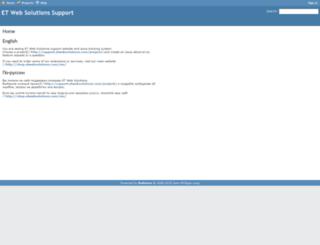 support.etwebsolutions.com screenshot