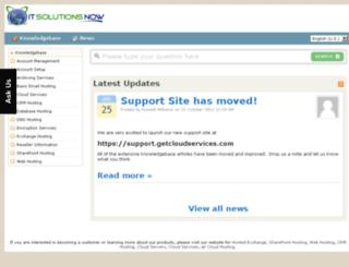 support.exchangemailhosting.com screenshot