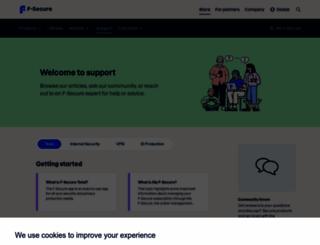 support.f-secure.com screenshot