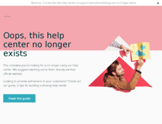 support.fanmailmarketing.com screenshot