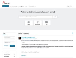 support.faronics.com screenshot