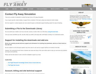 support.flyawaysimulation.com screenshot