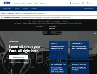 support.ford.com screenshot