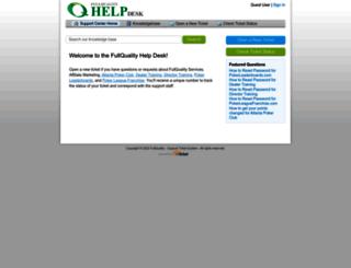 support.fullquality.com screenshot