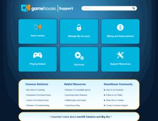 support.gamehouse.com screenshot