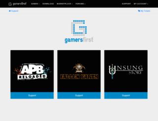 support.gamersfirst.com screenshot