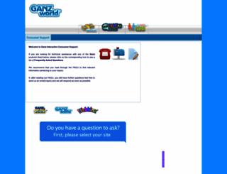 support.ganzworld.com screenshot