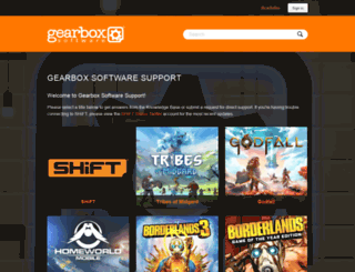 support.gearboxsoftware.com screenshot