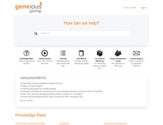 support.geneious.com screenshot