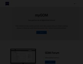 support.gom.com screenshot