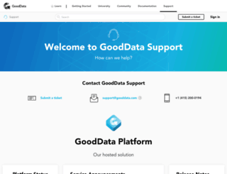 support.gooddata.com screenshot