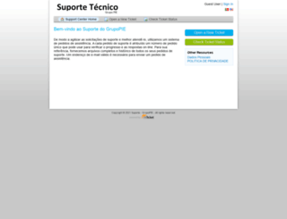 support.grupopie.com screenshot