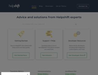 support.helpshift.com screenshot