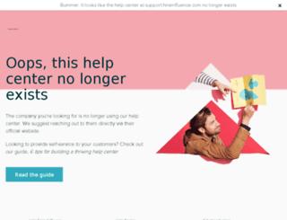 support.hireinfluence.com screenshot