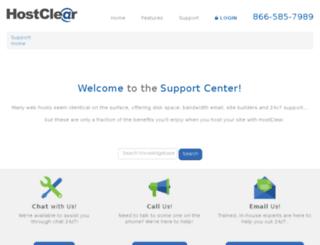 support.hostclear.com screenshot