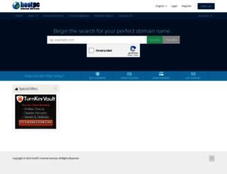 support.hostpc.com screenshot