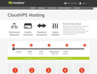 support.hostv.com screenshot